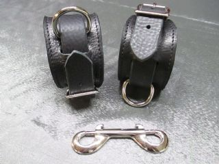 Leather/Suede Lined Restraint Cuffs Pair for Wrist or Ankles,Restraints, cuffs, straps, bondage straps, Master, Mistress, D/s, M/s, sub, collars, bondage, fetish, restraint, bdsm, impact, play, mature, adult, toys, bdsm, fetish, flogger, paddle, strap, tawse, Master, Mistress, Ds, Ms, naughty, bdsmcommunity, fetishcommunity, kinky, kinkster, CanadianPrisonStrap, hogtie, 3or4, canebag, pegging, strapon, bondage strap, restraintstrap